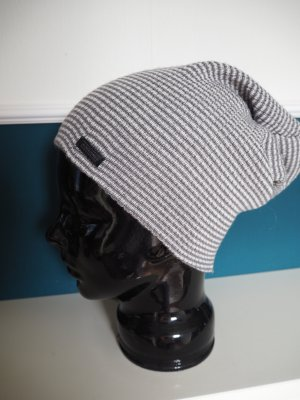 Jack & Jones Bonnet blanc-gris acrylique