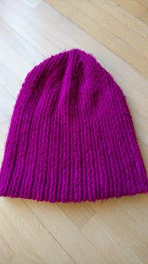 Berretto rosso lampone-viola