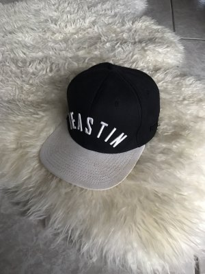 Beastin' Flat Cap white-dark blue