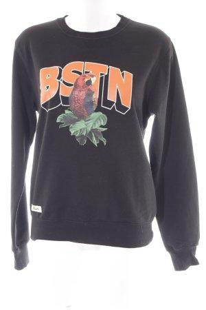 Beastin' Kraagloze sweater zwart prints met een thema simpele stijl