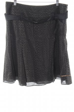 Beate Heymann Plaid Skirt black abstract pattern elegant