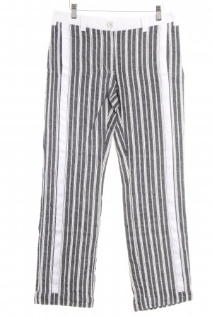 Beate Heymann Low-Rise Trousers anthracite-white striped pattern simple style