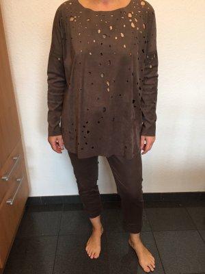 Beate Heymann Streetcouture Tailleur pantalone marrone-grigio