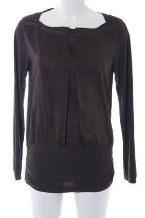 Beate Heymann Long Sleeve Blouse dark brown casual look