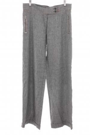 Beate Heymann Marlene Trousers light grey striped pattern casual look