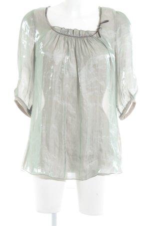 Beate Heymann Blusa caída malva-verde grisáceo degradado de color elegante