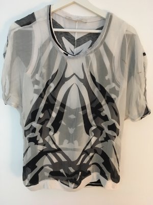 Beate Heymann Streetcouture Glanzende blouse zwart-wit