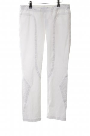 Beate Heymann Streetcouture Pantalone a 7/8 bianco stile casual