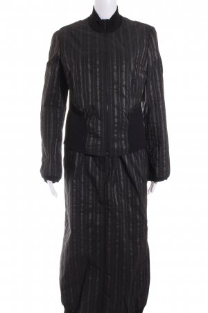 Beate Heymann Streetcouture Ladies' Suit black-gold-colored striped pattern