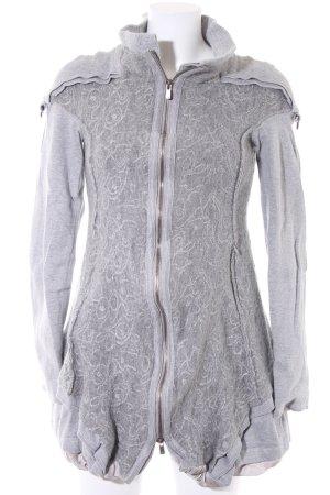 Beate Heymann Streetcouture Veste longue gris clair motif embelli
