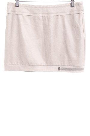 Beate Heymann Streetcouture Mini rok licht beige gestippeld patroon
