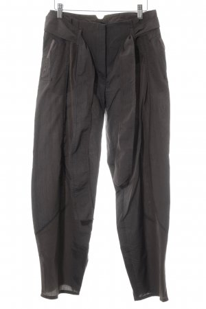 Beate Heymann Streetcouture Jersey Pants grey brown-black pinstripe casual look