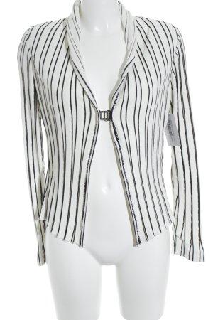 Beate Heymann Streetcouture Gebreide blazer zwart-wit gestreept patroon elegant