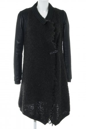 Beate Heymann Streetcouture Knitted Coat black allover print casual look