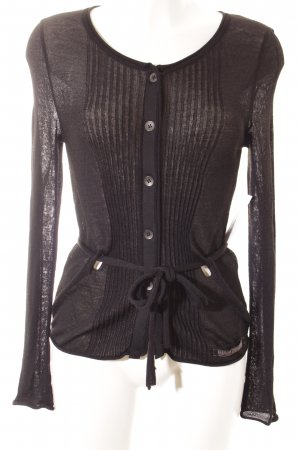Beate Heymann Knitted Cardigan black casual look