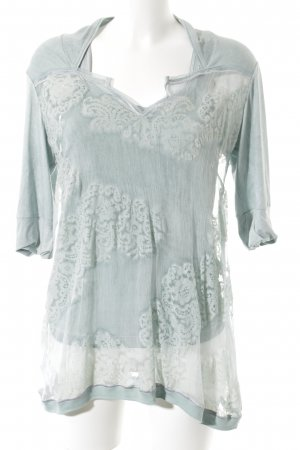 Beate Heymann Transparenz-Bluse blassblau Street-Fashion-Look