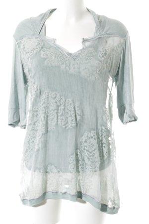 Beate Heymann Blusa transparente azul pálido look Street-Style
