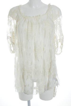 Beate Heymann Blouse transparente crème élégant