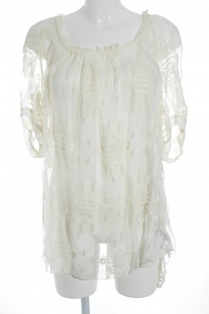 Beate Heymann Transparent Blouse cream elegant