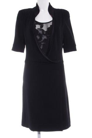 Beate Heymann Vestido cruzado negro elegante