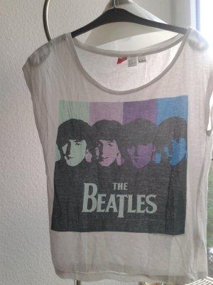 Beatles T-Shirt von H&M in Weiß
