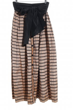 Beatrice Hympendahl Taffeta Skirt black-apricot striped pattern wet-look