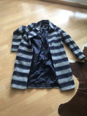 Beaumont Wollen jas grijs-donkerblauw