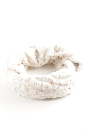 Beaumont Bufanda tubo blanco puro-crema look casual