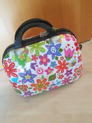 Beauty Case - Schminkkoffer mit bunten Blumen
