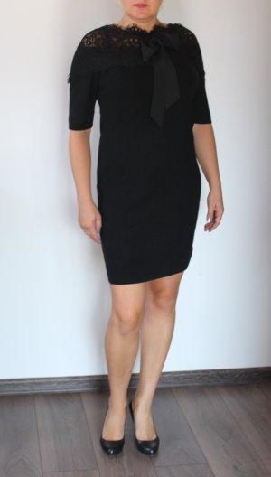 Beauty Woman wunderschönes Strickkleid Kleid Wolle/Spitze L neu