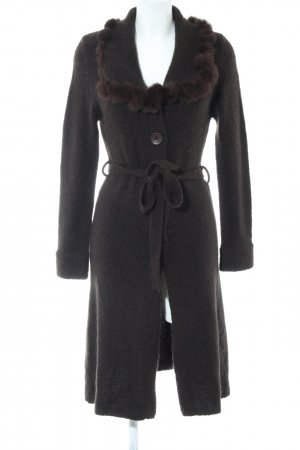 Beauty Women Knitted Coat brown casual look