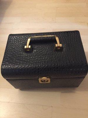 Cosmeticabox zwart-donkerrood