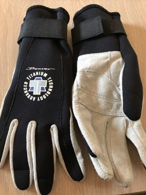 Handschoenen zwart-lichtgrijs