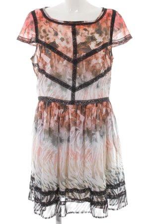 bebe Chiffon Dress floral pattern elegant