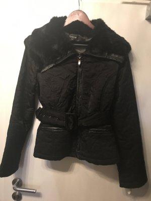 Bebe Damen Jacke mit Fell Kragen schwarz L Neu nicht getragen