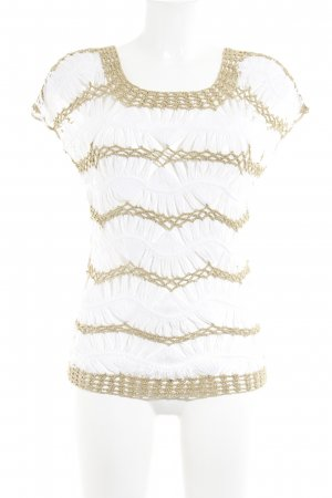 bebe Crochet Top white-gold-colored mesh look
