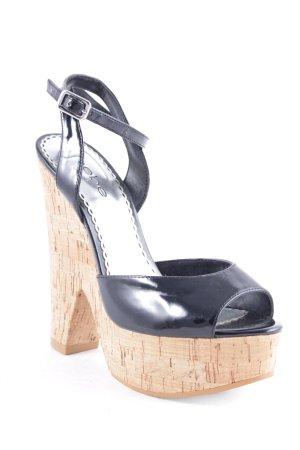 bebe Hoge hakken sandalen zwart-lichtbruin extravagante stijl