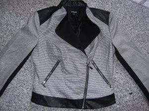 bebe Short Blazer black-white