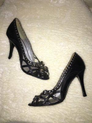 Bebe Leder Peeptoe Schuhe 38