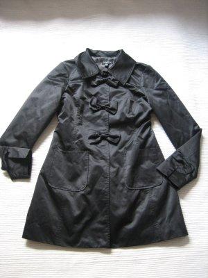 bebe mantel schwarz elegant gr. s 36 satin neuwertig luxus