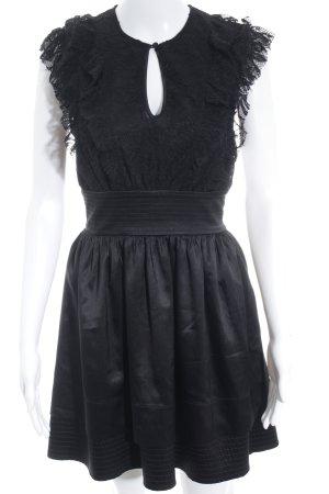 bebe Vestido de encaje negro estilo romántico