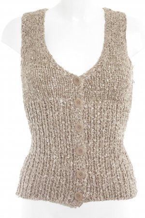 bebe Knitted Vest nude casual look