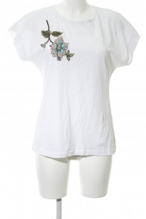 bebe T-Shirt white themed print casual look