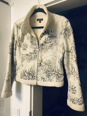 bebe Fake Fur Jacket white-silver-colored