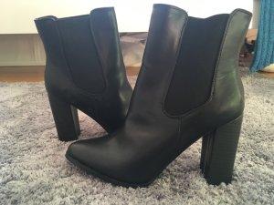 Bebo Booties black imitation leather