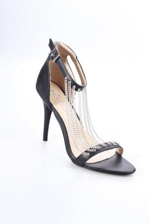 Bebo High Heel Sandaletten schwarz-silberfarben extravaganter Stil