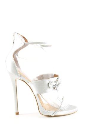 Bebo High Heel Sandal silver-colored elegant