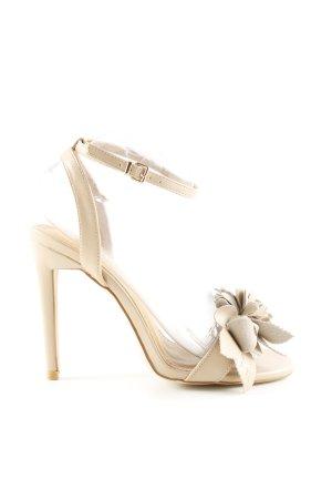 Bebo Strapped High-Heeled Sandals cream elegant