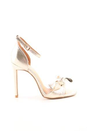 Bebo Strapped High-Heeled Sandals gold-colored elegant