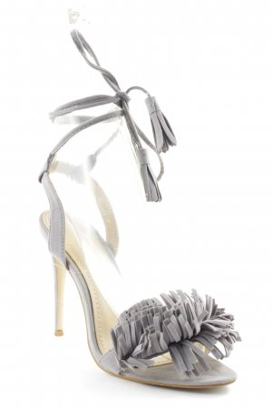 Bebo Strapped High-Heeled Sandals grey party style